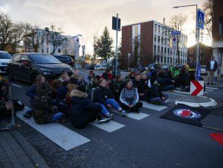 Eine Straßenblockade